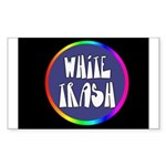 White Trash Rainbow Rectangle Sticker