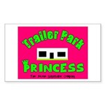 Trailer Park Princess Rectangle Sticker