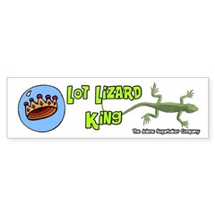 Lot Lizard King Bumper Sticker