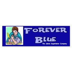 Forever Blue Eyeshadow Bumper Sticker