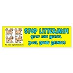 Stop Littering Spay and Neuter Bumper Sticker