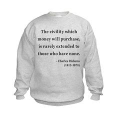 Charles Dickens 10 Kids Sweatshirt
