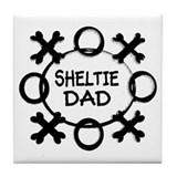 Hugs and Kisses Sheltie Tile Coaster