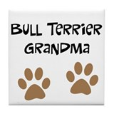 Big Paws Bull Terrier Mom Tile Coaster