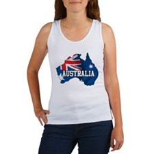 Map Of Australia Women's Tank Top