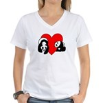 Panda Bear Love Women's V-Neck T-Shirt