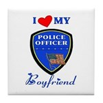 Police Boyfriend Tile Coaster