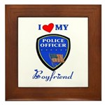 Police Boyfriend Framed Tile