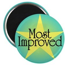 "Most Improved 2.25"" Magnet (100 pack)"