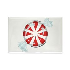 Peppermint Candy Picture 2 Rectangle Magnet (100 p