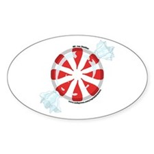 Peppermint Candy Picture 2 Oval Decal