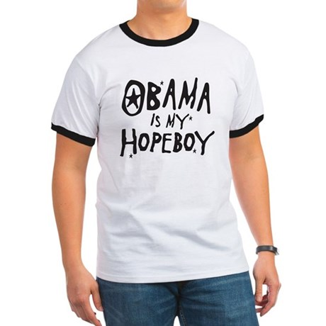 Obama is my Hopeboy Ringer T