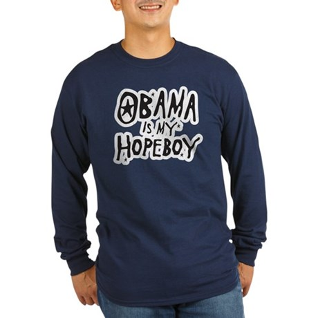 Obama is my Hopeboy Long Sleeve Dark T-Shirt