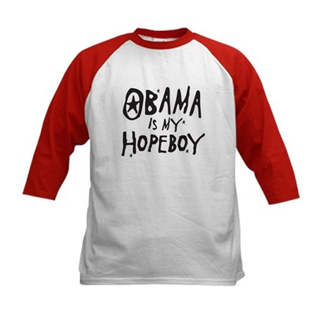 Obama is my Hopeboy Kids Baseball Jersey