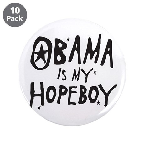 "Obama is my Hopeboy 3.5"" Button (10 pack)"