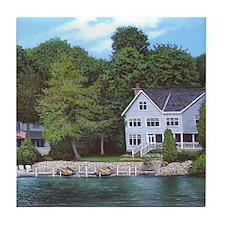 Topinabee Mullett Lake Tile Coaster