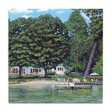 Mullett Lake Cottage Tile Coaster