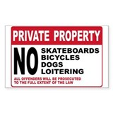 PRIVATE PROPERTY Rectangle Sticker 50 pk)