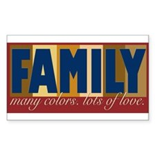 Family Color Rectangle Decal