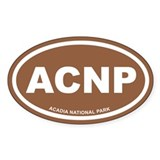 Acadia National Park Brown Euro Oval Decal