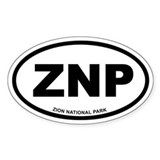 Zion National Park Euro Oval Decal