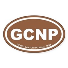 Brown Grand Canyon National Park Oval Decal