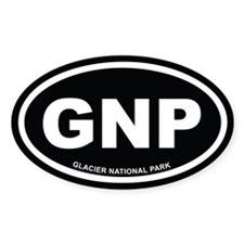 Black Glacier National Park Euro Oval Decal