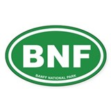 Green Banff National Park Euro Oval Decal
