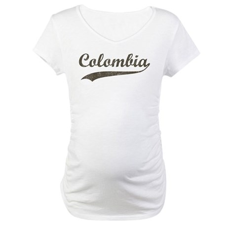 Vintage Colombia Maternity T-Shirt