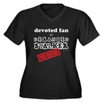 Stalker1 Women's Plus Size V-Neck Dark T-Shirt