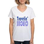 TRAVLIN' CIRCUS Women's V-Neck T-Shirt