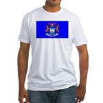 Michigan Blank Flag Fitted T-Shirt