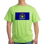 Michigan Blank Flag Green T-Shirt