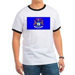 Michigan Blank Flag Ringer T