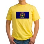 Michigan Blank Flag Yellow T-Shirt