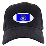 Michigan Blank Flag Black Cap