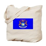 Michigan Blank Flag Tote Bag