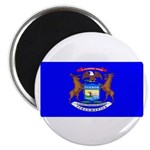 Michigan Blank Flag Magnet