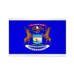 Michigan Blank Flag Rectangle Magnet (10 pack)