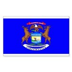 Michigan Blank Flag Rectangle Sticker