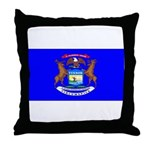Michigan Blank Flag Throw Pillow