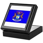 Michigan Blank Flag Keepsake Box