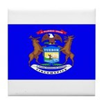 Michigan Blank Flag Tile Coaster