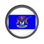 Michigan Blank Flag Wall Clock