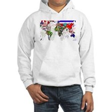 World Flags Map Hoodie
