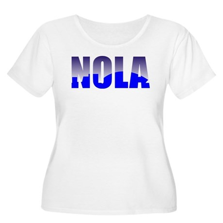 NOLA Women's Plus Size Scoop Neck T-Shirt