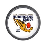 Hurricane Emily Vacation Blown Wall Clock