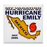 Hurricane Emily Vacation Blown Tile Coaster