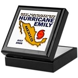 Hurricane Emily Vacation Blown Keepsake Box