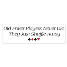 Old Poker Players Bumper Car Sticker